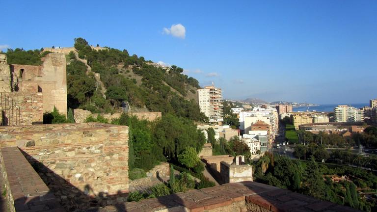 Views over Málaga from the turrets of the Alcazaba I