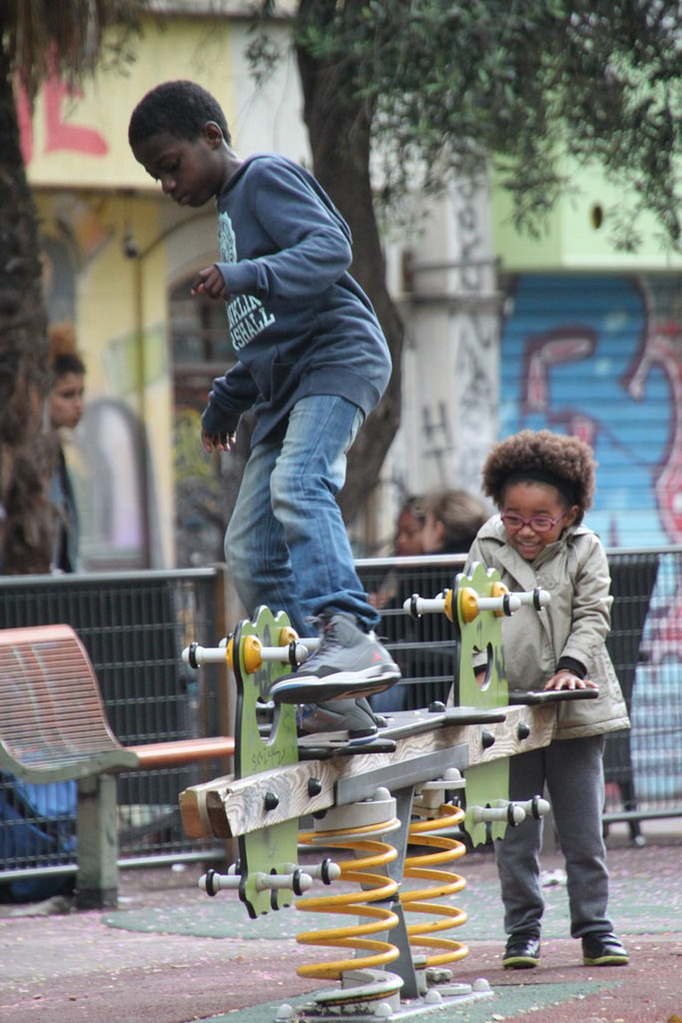 Marseille, cours Julien, kids playing