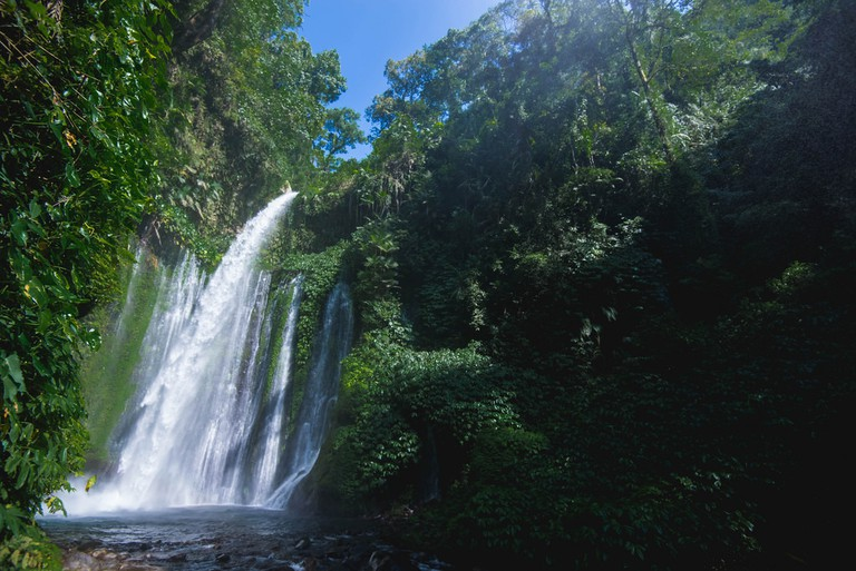 Tiu Kelep Waterfall in Lombok
