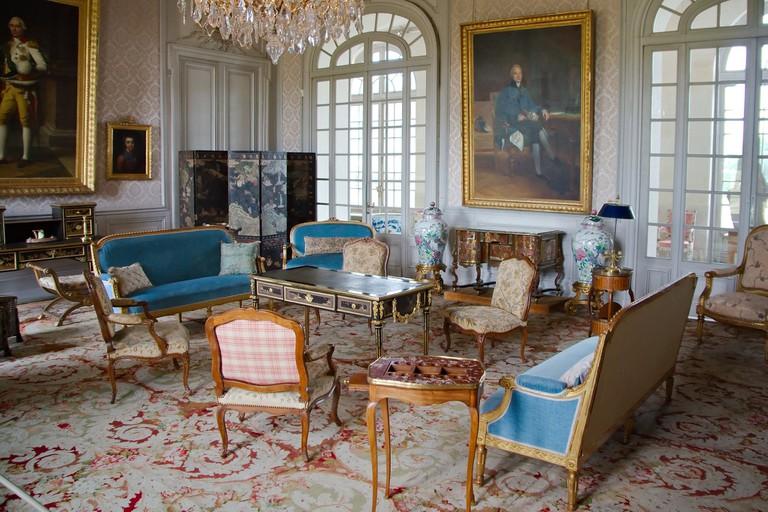 Salon au château de Valençay, France