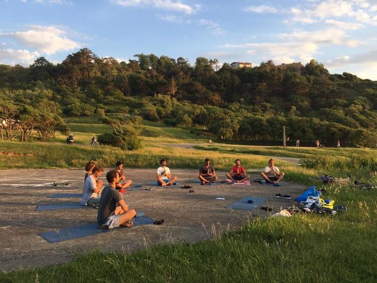Morning yoga – Courtesy of Namaste Yoga