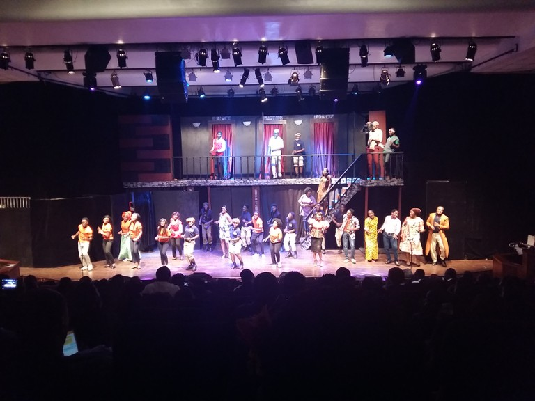 A stage play at the Muson Centre in Onikan, Lagos
