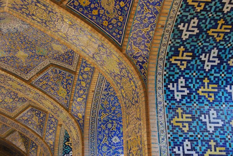 Detail of Esfahan's Imam Mosque | © Paul Keller / Flickr