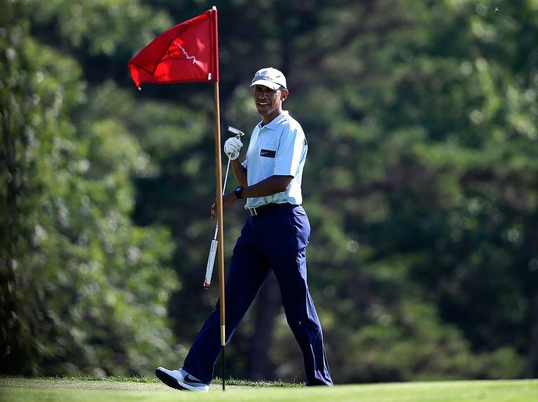 Obama on vacation  © Vecherka Photo