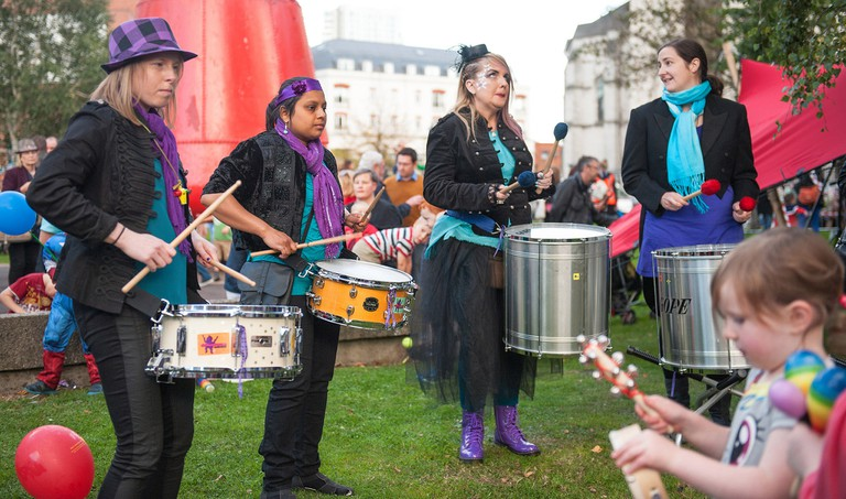 Drummers at Belfast's Culture Night