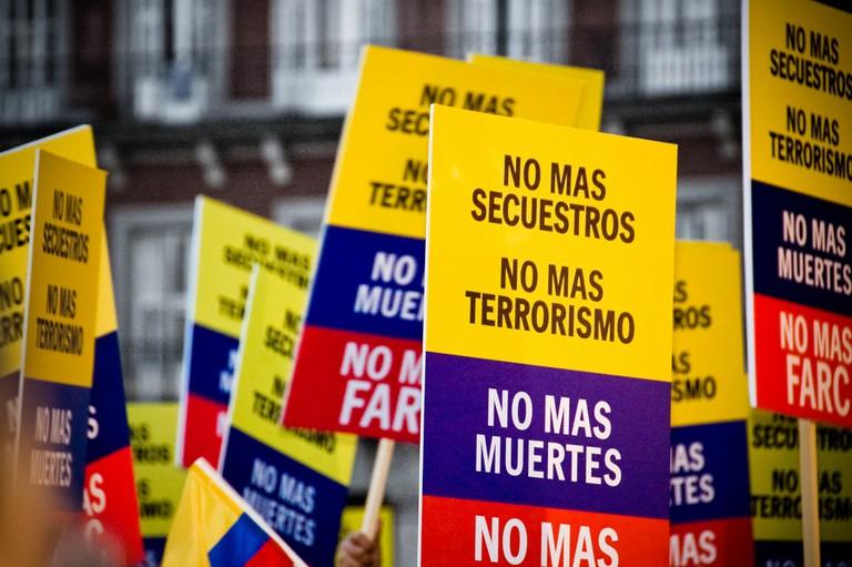 Anti-FARC protests in Colombia | © Camilo Rueda López