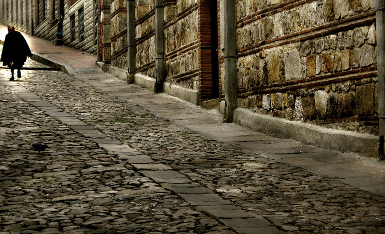 The cobbled streets of old Bogota where García Márquez lived and worked