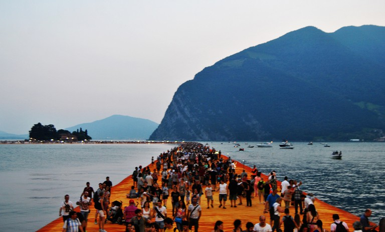 Floating Piers by Christo Javacheff 2016