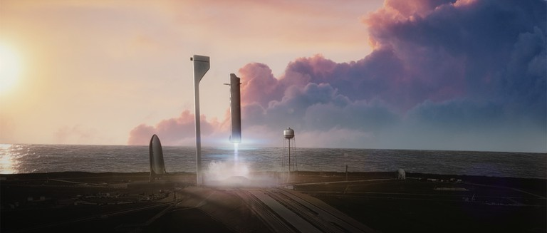 Musk is planning an interplanetary travel system   © SpaceX