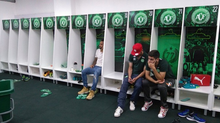 Chapecoense dressing room the day of the air disaster
