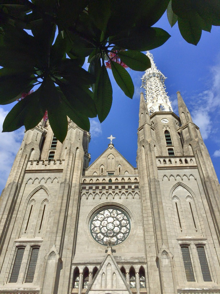 The Neo-Gothic cathedral of Jakarta