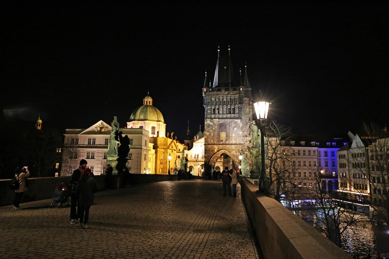 Prague's streets are less crowded in winter