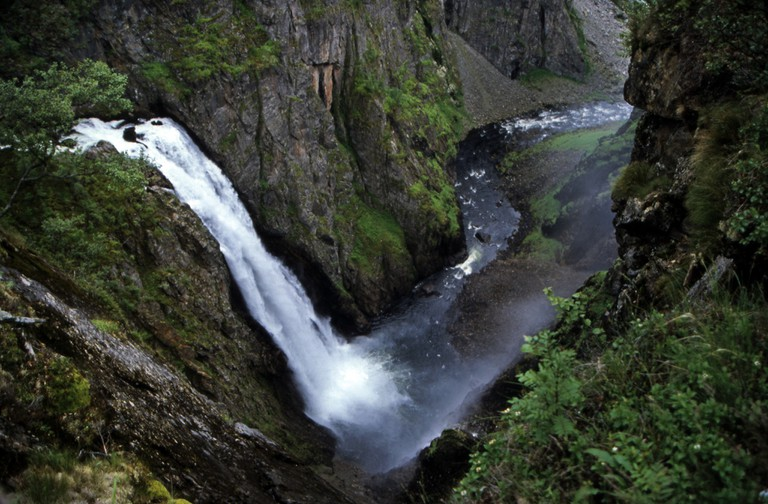 Waterfall in the Hordaland county where Bergen is the capital