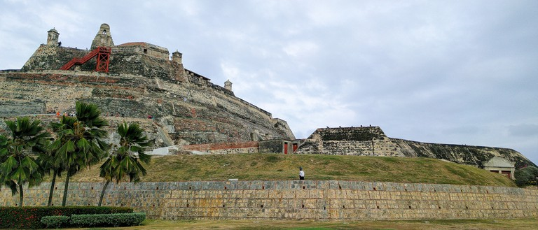 The castle was a formidable defensive structure