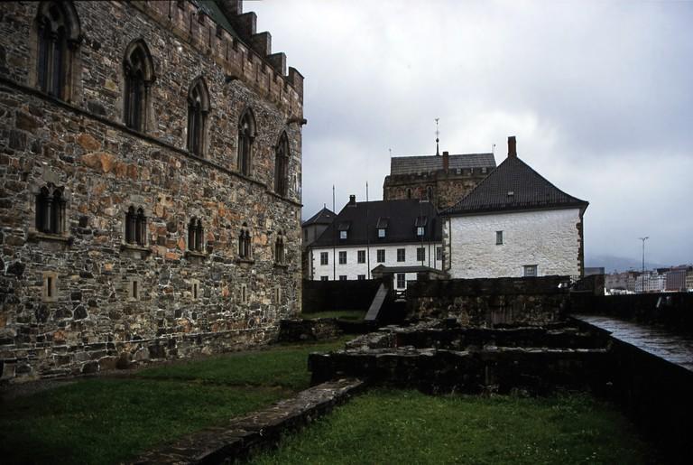 One side of Bergenhus festning