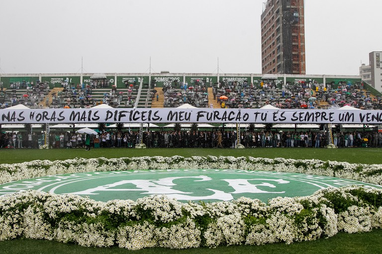 Ceremony for victims of Chapecoense air disaster