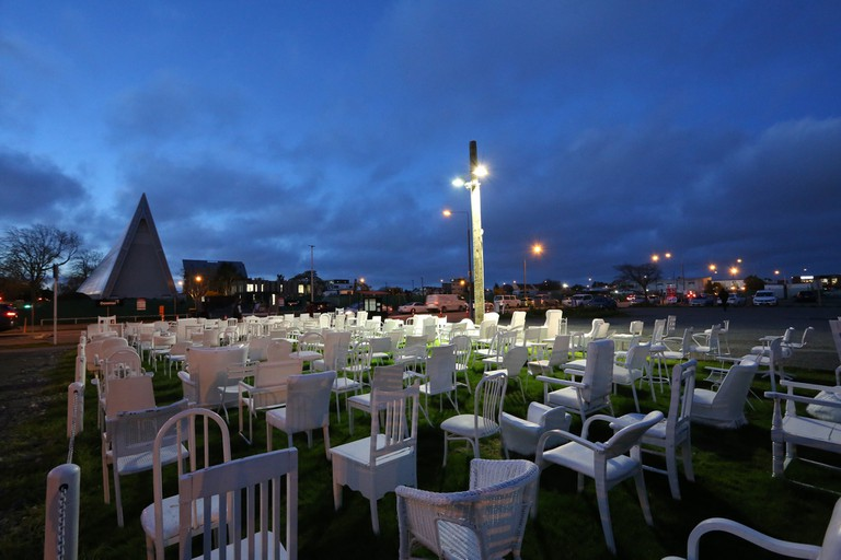 185 Empty Chairs – Earthquake Memorial