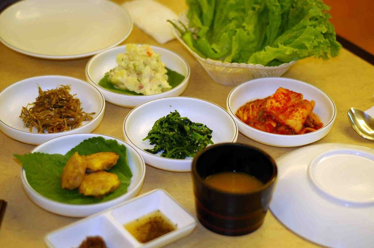A selection of traditional Korean dishes © danny O.