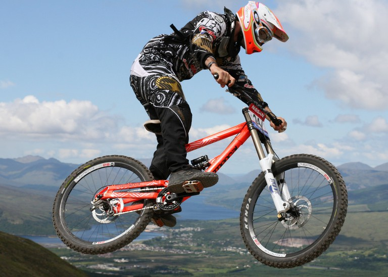 Downhill MTB, Fort William in the Background