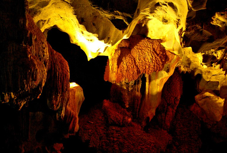 Inside the park's caves I