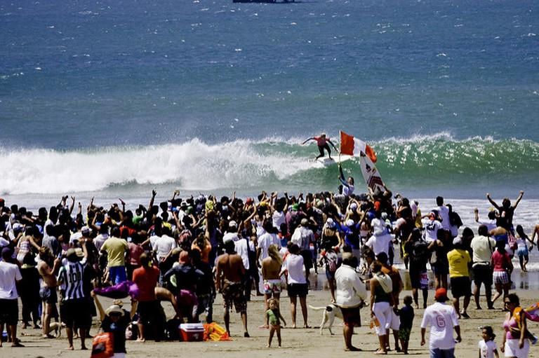 Surfing Peru's coastline