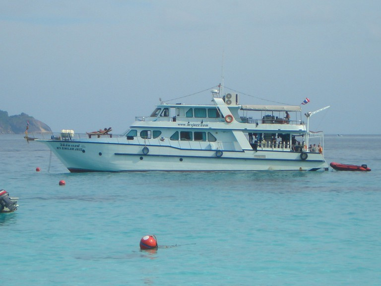 Our liveaboard boat for the Similan Islands.