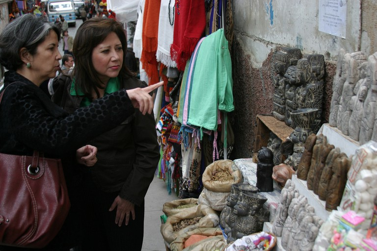 Shopping at the Witches Market