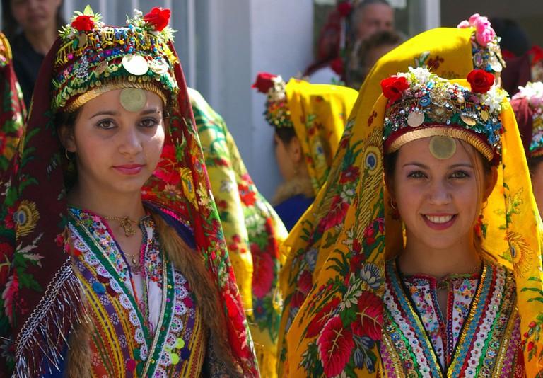 Bulgarian folk dancers