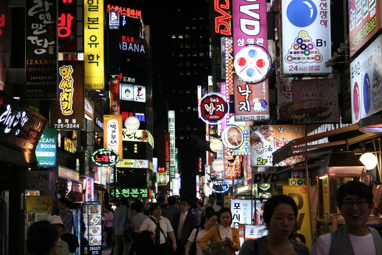 Noraebang can be found just about anywhere on Seoul's crowded streets