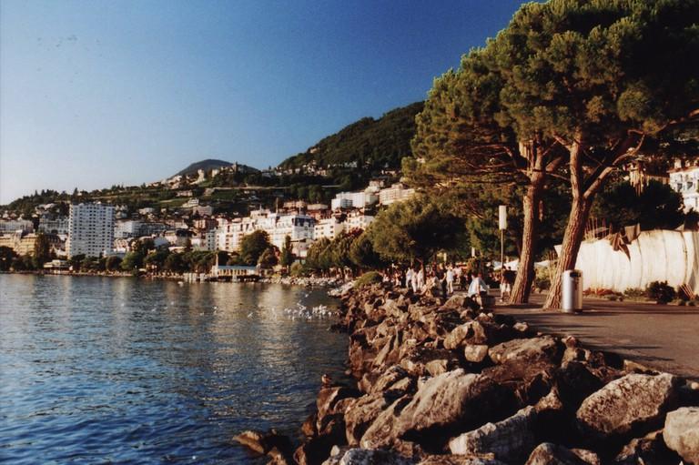 Montreux's promenade