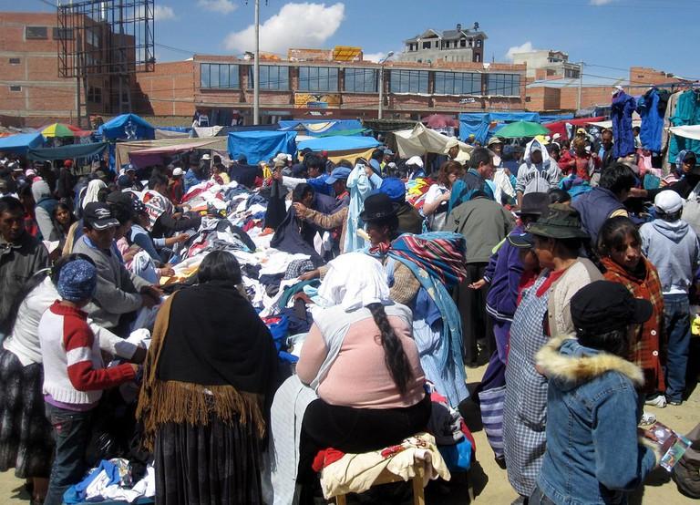 Second hand clothes market