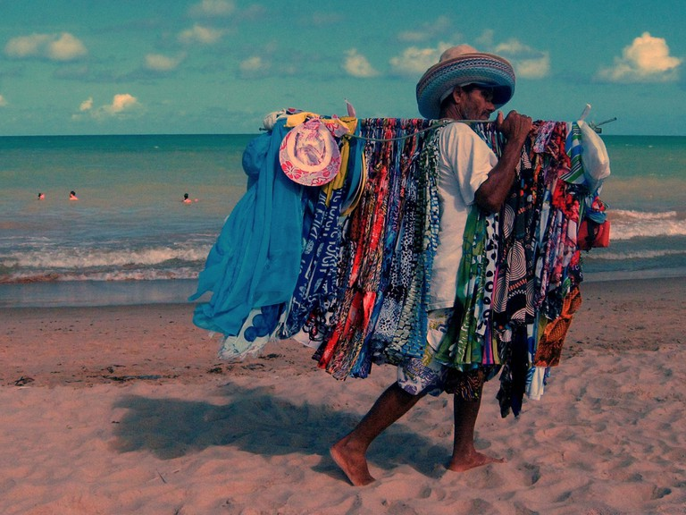 Brazilian beach seller