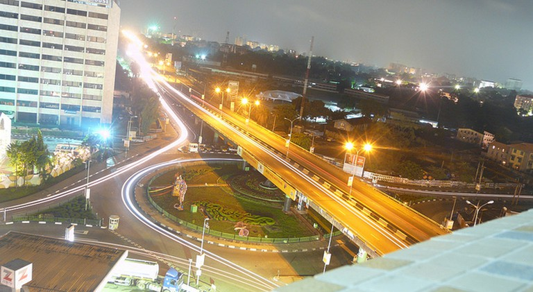 Top view of Falomo Roundabout, Ikoyi, Lagos