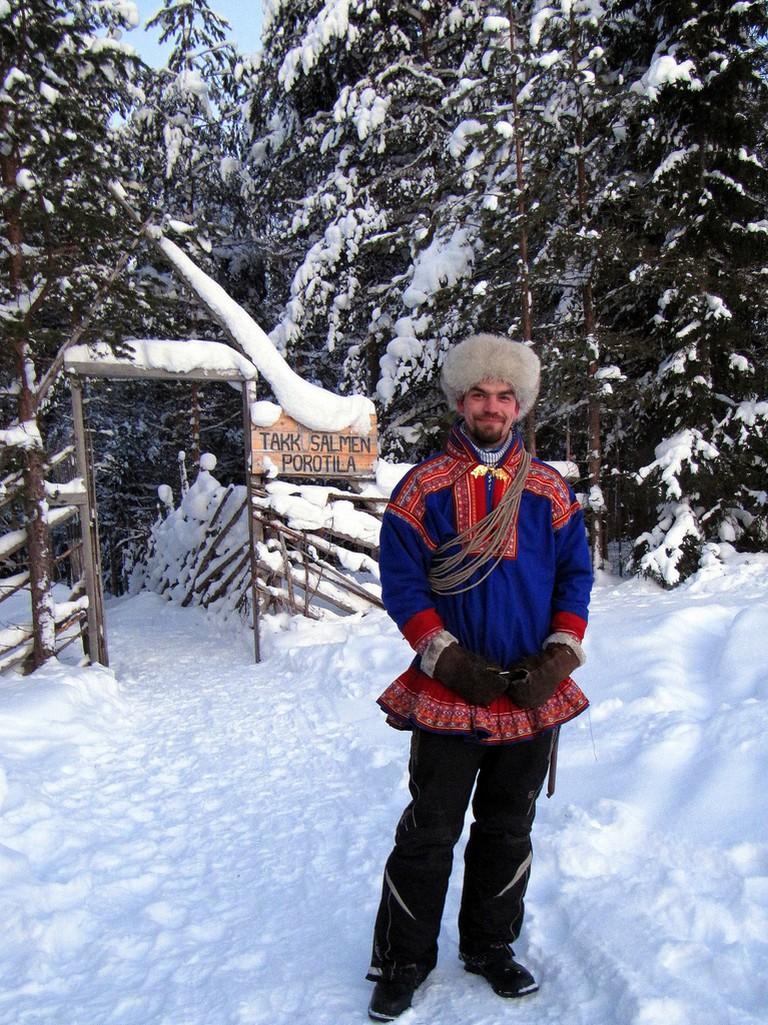 A traditional Sami costume