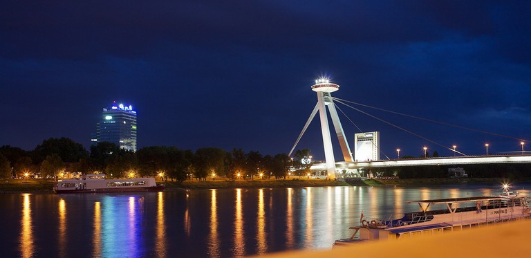 Bratislava's UFO is a great place to be in the evenings