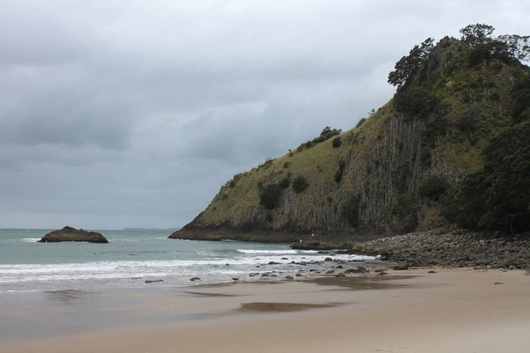 Cloudy day at New Chums Beach