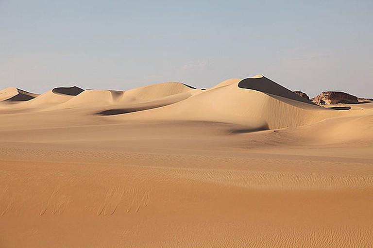 Sand dune near 'Areg, Siwa depression, Egypt