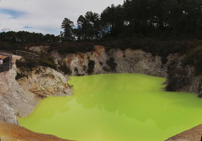 The Devil's Bath at Wai-O-Tapu thermal area, near Rotorua