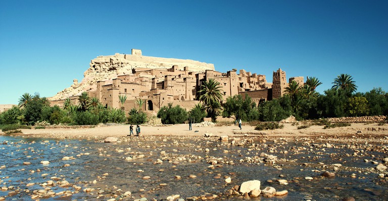 Old kasbah in the Sahara desert