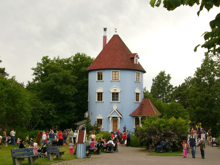 The iconic Moomin House at Moomin World