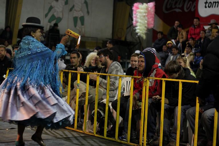 Traditional cholita dress