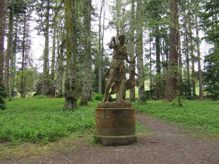 Statue of Diana at the Centre of the Grove