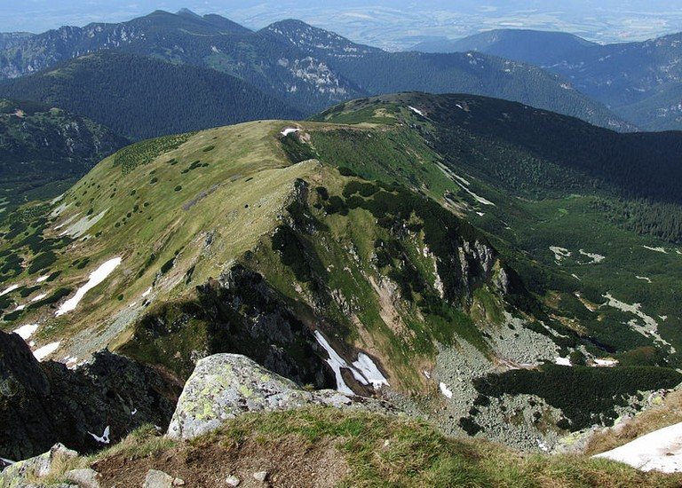 The view from Dumbier mountain in the Low Tatras