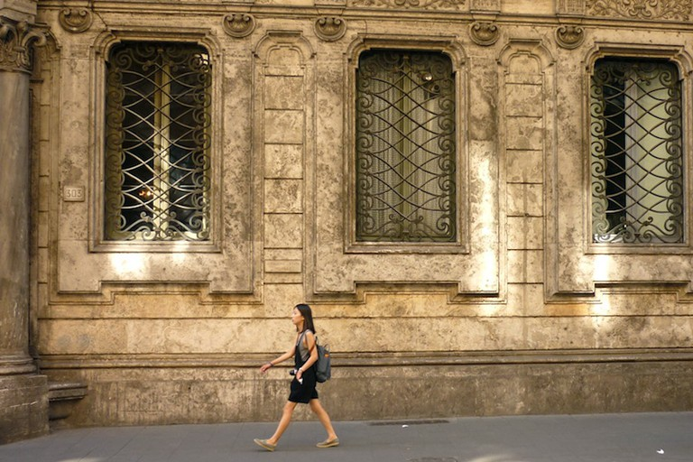 Walking on Via Del Corso