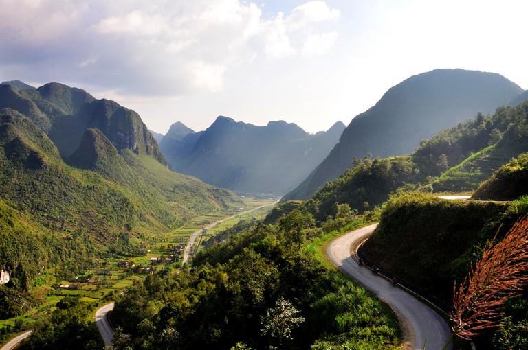 A mountain pass in Ha Giang