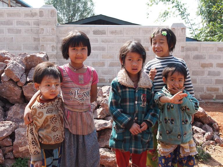 Village kids outside Kalaw