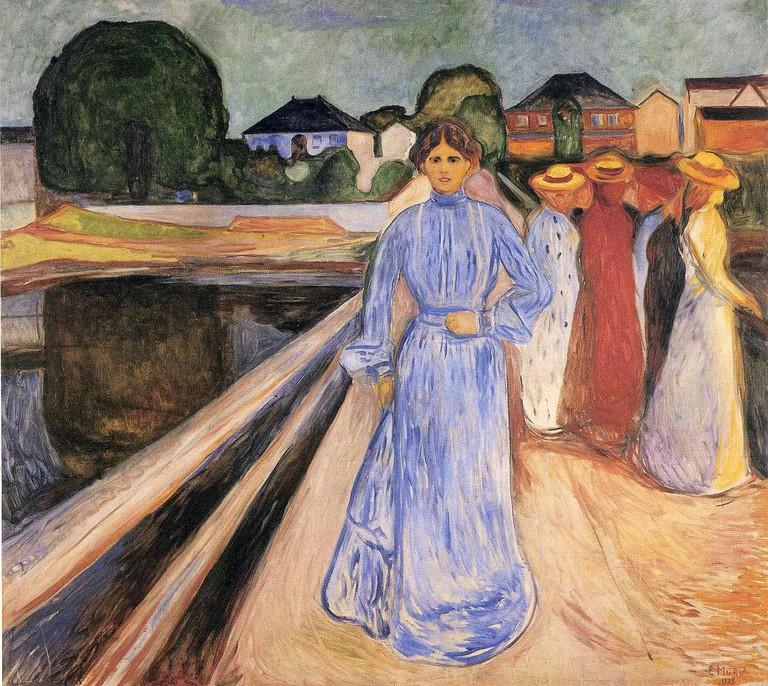 Edvard Munch, Women on the Bridge, 1902