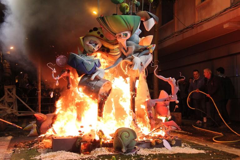 La Crema, the final night of the Las Fallas festival in Valencia