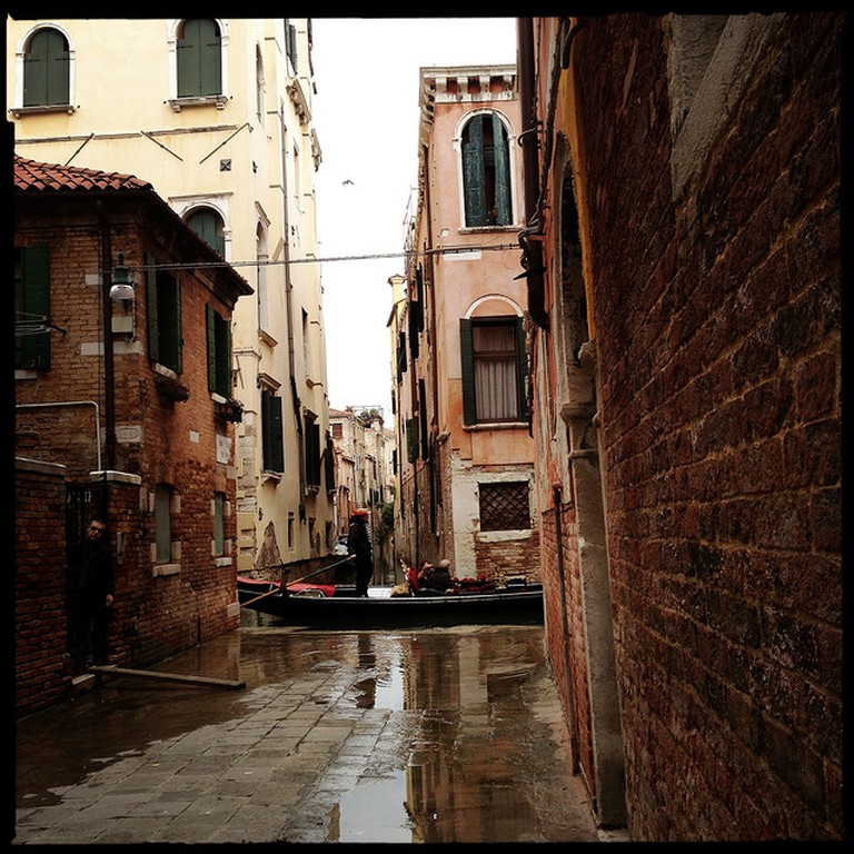 Venice's narrow alleys and canals