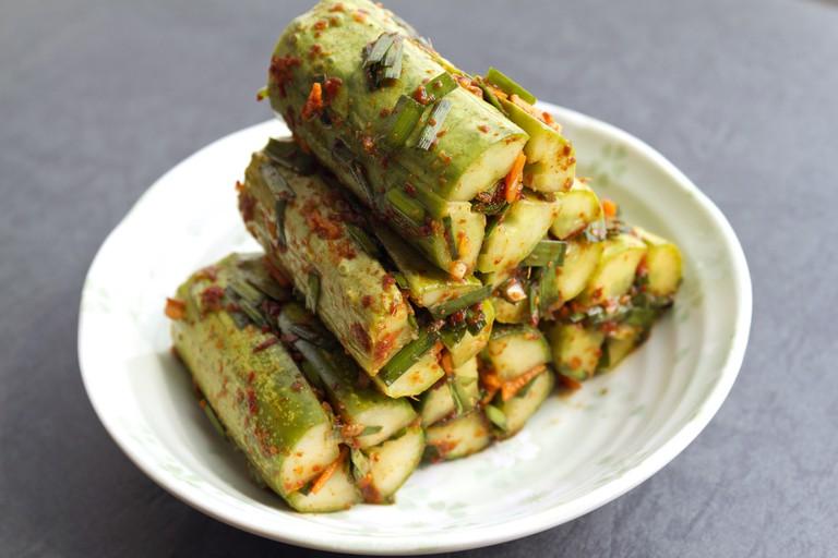 Cucumber kimchi | © Chloe Lim/Flickr